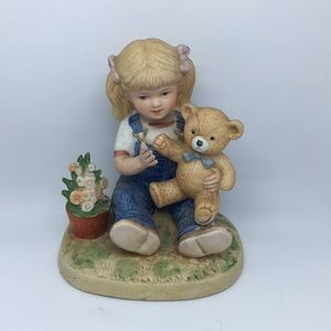 Vintage Homco Denim Days Porcelain